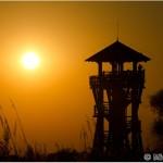 Observation tower in sunset / pozorovacia veža pri západe slnka- Michal Šeďo